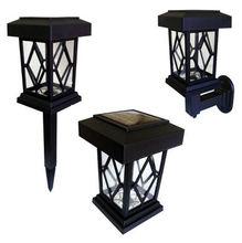Luminária Balizadora Solar 44,5x10cm Preto DNI
