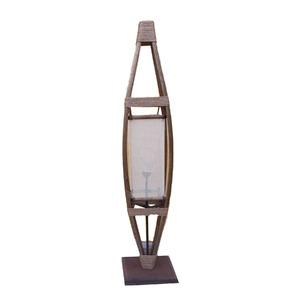 Luminária de Chão 2264 160x25cm Artluz Madeira Bege/Marrom Bivolt
