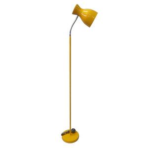 Luminária de Chão Spot Line Redondo Metal Amarelo 1 Lâmpada Bivolt