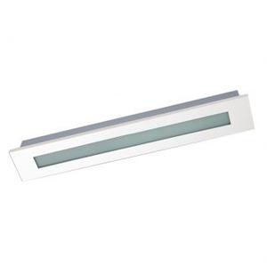 Luminária de embutir Retangular 1 Lâmp. T8 Bivolt Branco Pantoja