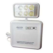 Luminária de Emergência LED 2000 Lumens e 1 Faról Segurimax
