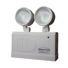 Luminária de Emergência LED 200 Lumens e 2 Faróis Segurimax