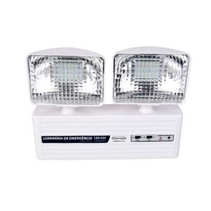 Luminária de Emergência LED 450 Lumens e 2 Faróis Segurimax