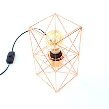Luminária de Mesa Abajur Aramado na cor Cobre para 1 Lâmpada