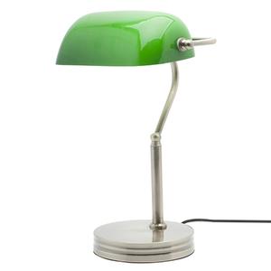 Luminária de Mesa Isnpire Banker Redondo Vidro Verde Bivolt