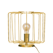 Luminária de Mesa Dourada Metal Onelia Inspire