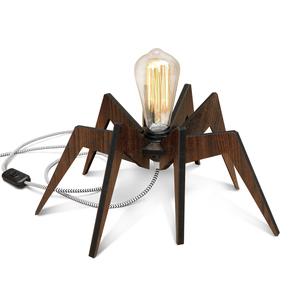 Luminária de Mesa E27 Madeira Aranha I-Stick