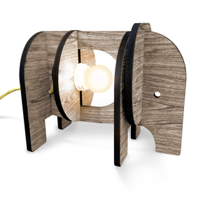 Luminária de Mesa E27 Madeira Elefante I-Stick