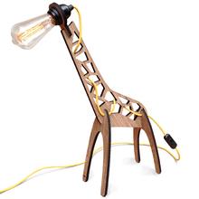 Luminária de Mesa E27 Madeira Girafa I-Stick