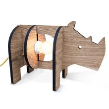 Luminária de Mesa E27 Madeira Rinoceronte I-Stick
