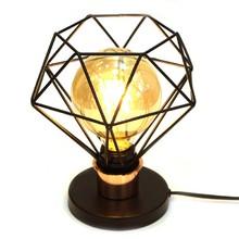 Luminária de Mesa Preta Diamante P para 1 E27