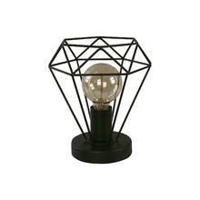 Luminária de Mesa Preta Metal Diamond Inspire