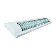 Luminária de Sobrepor LED Ourolux Aletada 2x18W Luz Branca 120 cm Bivolt
