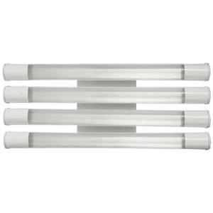 Luminária de Sobrepor Tubular Retangular 4 Lâmp T8 Bivolt Branco Tualux
