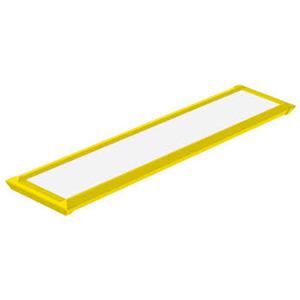 Luminária de Teto Sobrepor LED Taschibra Retangular Metal Amarela 52W Bivolt