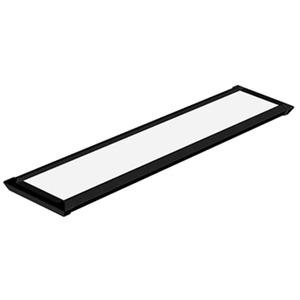 Luminária de Teto Sobrepor LED Taschibra Retangular Metal Preta 52W Bivolt