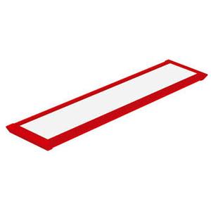 Luminária de Teto Sobrepor LED Taschibra Retangular Metal Vermelha 52W Bivolt