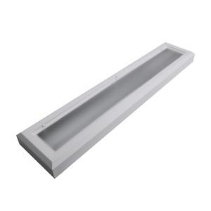 Luminária de Teto Sobrepor Retangular Aço Branco 17W Bivolt