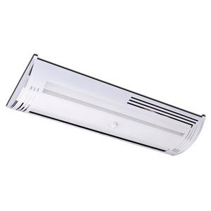 Luminária de Teto Sobrepor Tualux Retangular Metal Branco 2 Lâmpadas Bivolt