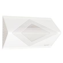 Luminária de Teto Sobrepor Tualux Retangular Metal e Plástico Branco 1 Lâmpada Bivolt