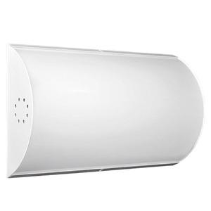 Luminária de Teto Sobrepor Tualux Retangular Metal e Plástico Branco 2 Lâmpadas Bivolt