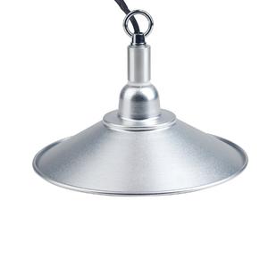Luminária Ecoforce Redondo Metal Prata Bivolt