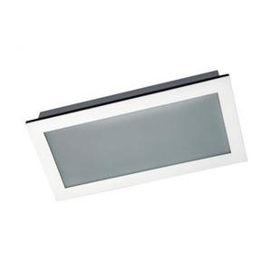Luminária embutir Alumínio/Vidro 29x50cm Branca Pantoja