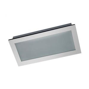 Luminária embutir Alumínio/Vidro 29x50cm Cinza Pantoja