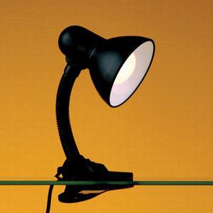 Luminária mesa Versatty Aço/Termoplástico 34x13cm Preto Bronzearte