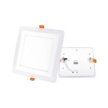 Luminária Painel LED de Embutir 16W Luz Amarela e Branca Inspire