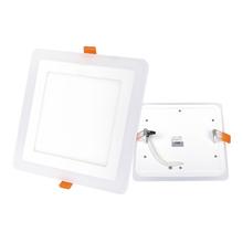 Luminária Painel LED de Embutir 24W Luz Amarela e Branca Inspire