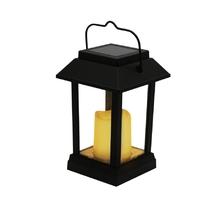Luminária Portátil Externa Solar LED  Ecoforce Redondo Plástico Preto