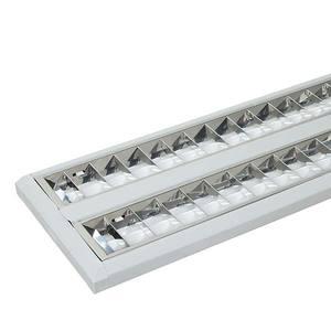 Luminária de sobrepor TD 60 Retangular 2 Lâmp. G5 Bivolt Branco Taschibra
