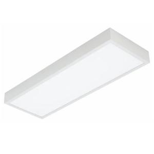 Luminária de sobrepor VR0361 Retangular 2 Lâmp. T8 Bivolt Branco VR Lux