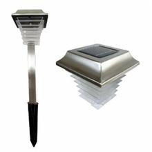 Luminária Solar LED Key West Redondo Metal e Plástico Preto 8W Fotocélula