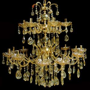 Lustre 18 Lâmpadas Dourado 1562/18 Diamante