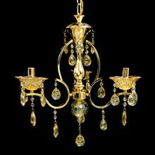 Lustre 3 Lâmpadas Dourado 1535/3 Diamante