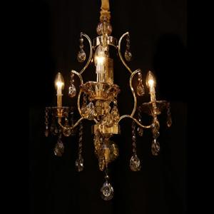 Lustre 3 Lâmpadas Dourado 1540/3 Diamante
