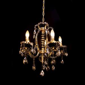 Lustre 3 Lâmpadas Dourado e Preto 8503/3 Diamante