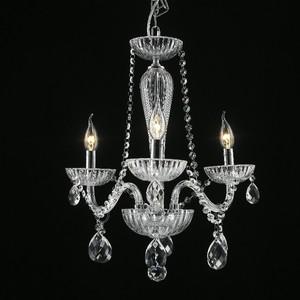 Lustre 3 Lâmpadas Transparente Chamonix Chandelie