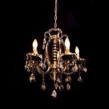 Lustre 5 Lâmpadas Dourado e Preto 8503/5 Diamante