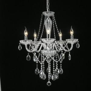 Lustre 5 Lâmpadas Transparente Chamonix Chandelie