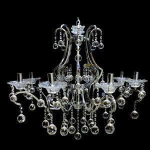 Lustre 8 Lâmpadas Prata 1351/8 Diamante