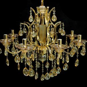 Lustre 8 Lâmpadas Dourado 1540/8 Diamante
