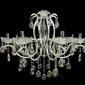 Lustre 8 Lâmpadas Prata e Branco 6502/8 Diamante