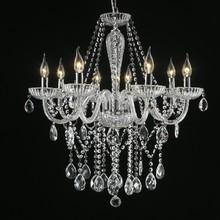 Lustre 8 Lâmpadas Transparente Chamonix Chandelie