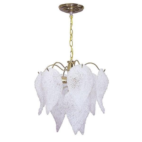 Free lustre folhas acrilico dourado plampadas e comp cm larg with lustres leroy merlin
