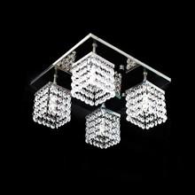 Lustre Acrílico Plafon Quadrado Santarém 30x30x15cm para 4 Lâ