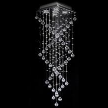 Lustre Aomori de Cristal Original 120cm e Base em Aço Inox e