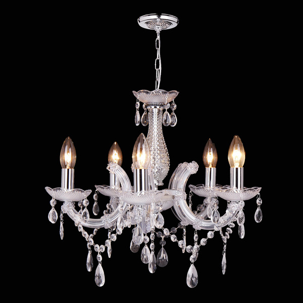 lustre 5 l mpadas transparente cristal new line leroy merlin. Black Bedroom Furniture Sets. Home Design Ideas